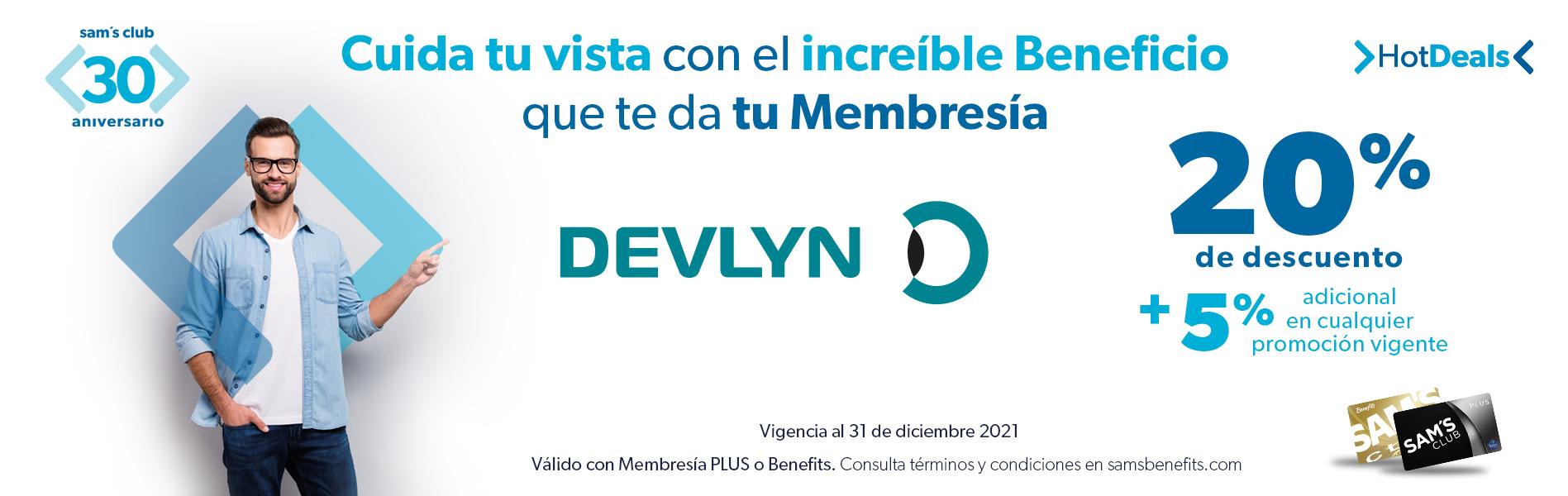 15% de descuento con cualquier forma de pago + 10% de bonificación en monedero estilo Devlyn.